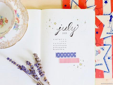 July 2020 Bullet Journal Setup