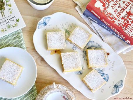 Luscious Lemon Squares for a Green Gables Picnic