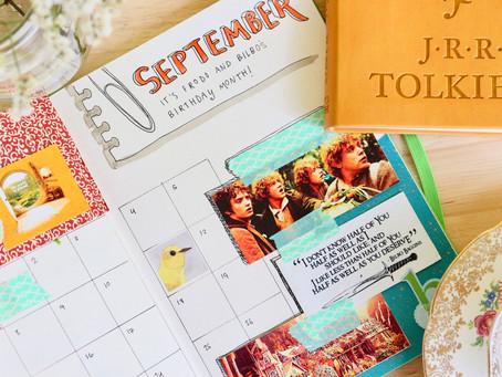 September 2020 Bullet Journal Setup — Fellowship-themed!