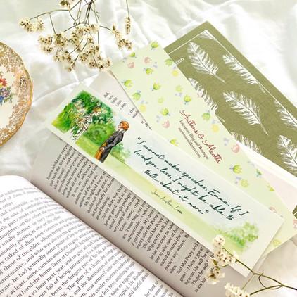 Emma and Mr. Knightley Jane Austen Bookmark