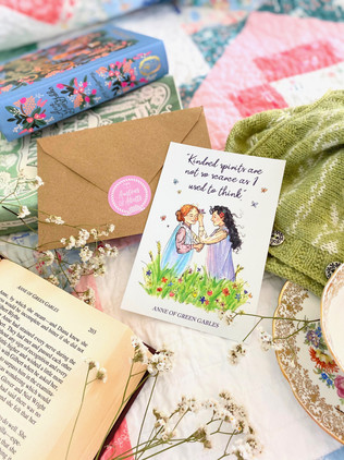 "Anne of Green Gabels ""Kindred Spirits"" Art Print"
