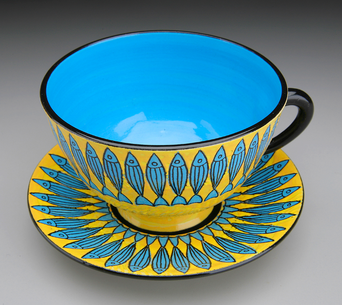 Blue Fish Teacup