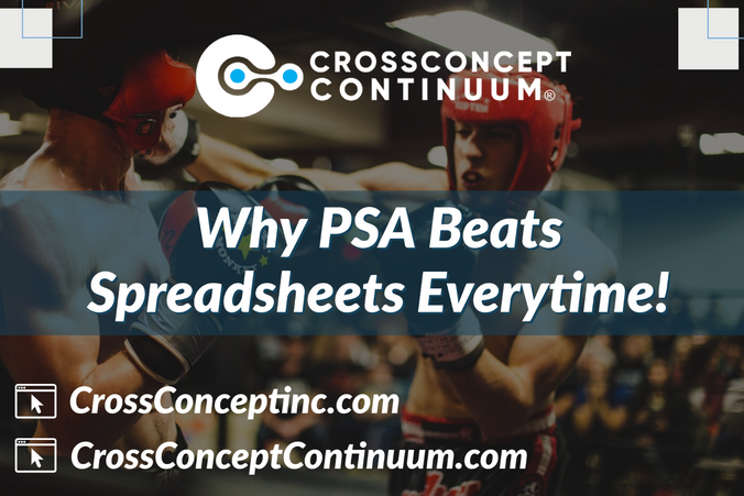 Why use a PSA Solution over Spreadsheets?