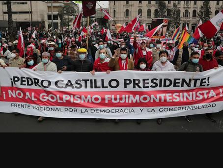 Ο Καστίγιο είναι ο νικητής των εκλογών στο Περού η Φουχιμόρι  τις ονομάζει παράνομες