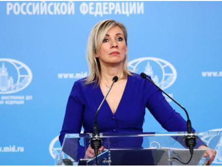 Η Ζαχάροβα κατηγόρησε τη Δύση για ανήθικη συμπεριφορά στο διαδίκτυο