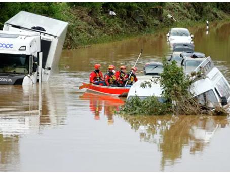 Οι πλημμύρες έπνιξαν τον μελλοντικό καγκελάριο