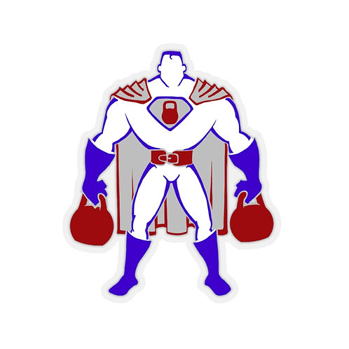 Kettlebell hero 2 Kiss-Cut Stickers