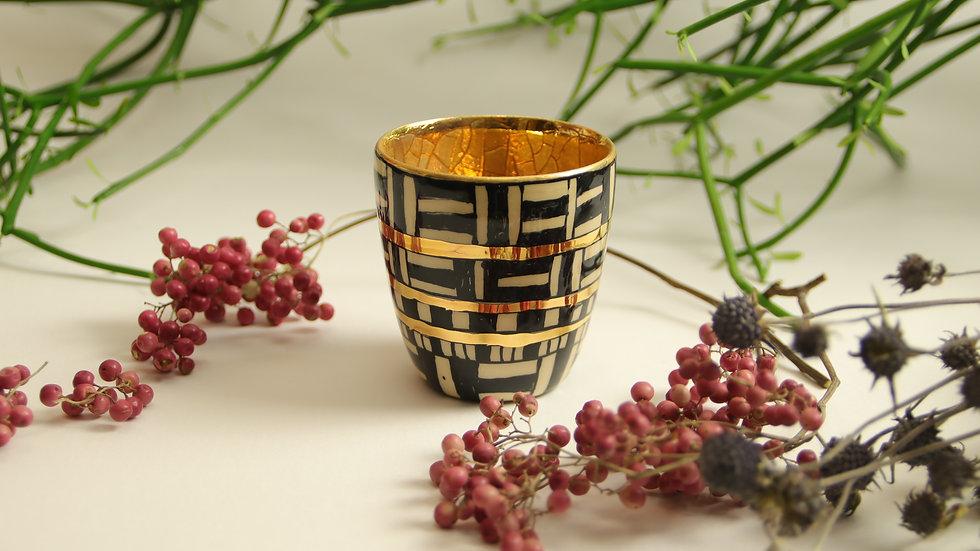 "Espresso Becher ""Gold & Graphics"""