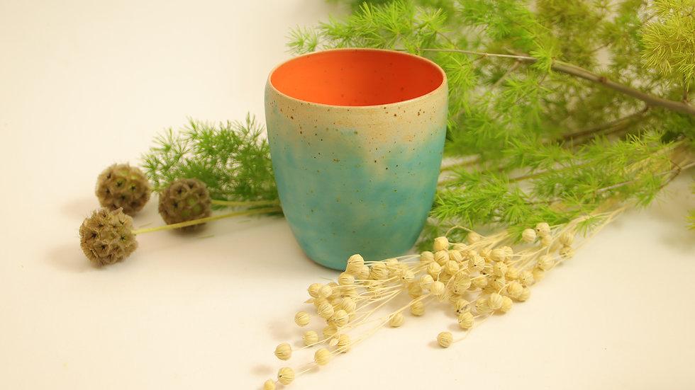 """Cappuccino Becher """"Orange im Wasser"""""""