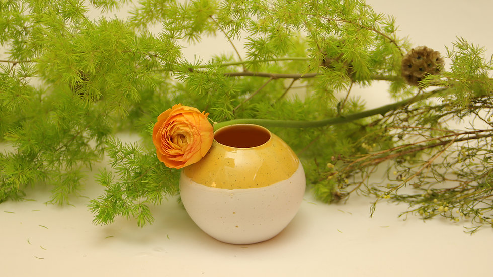 """Vase """"Dottergelb"""""""