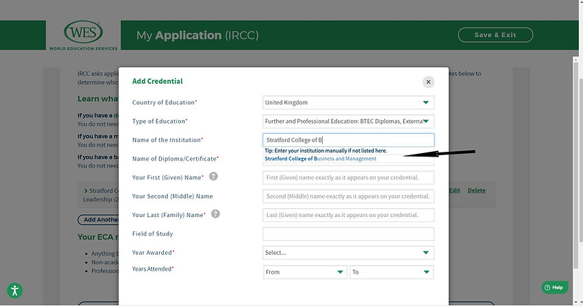 Step 2a - Input details - Select college name.jpg