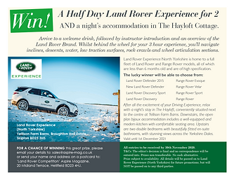 A Half Day Land Rover Experience for 2 Competition