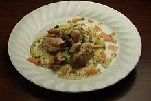 鶏肉のオーブン焼き  マスタード添え