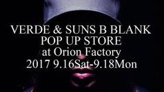 VERDE & SUNS B BLANK POP UP STORE