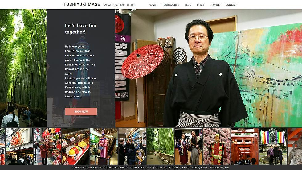 KANSAI LOCAL TOUR GUIDE『TOSHIYUKI MASE』