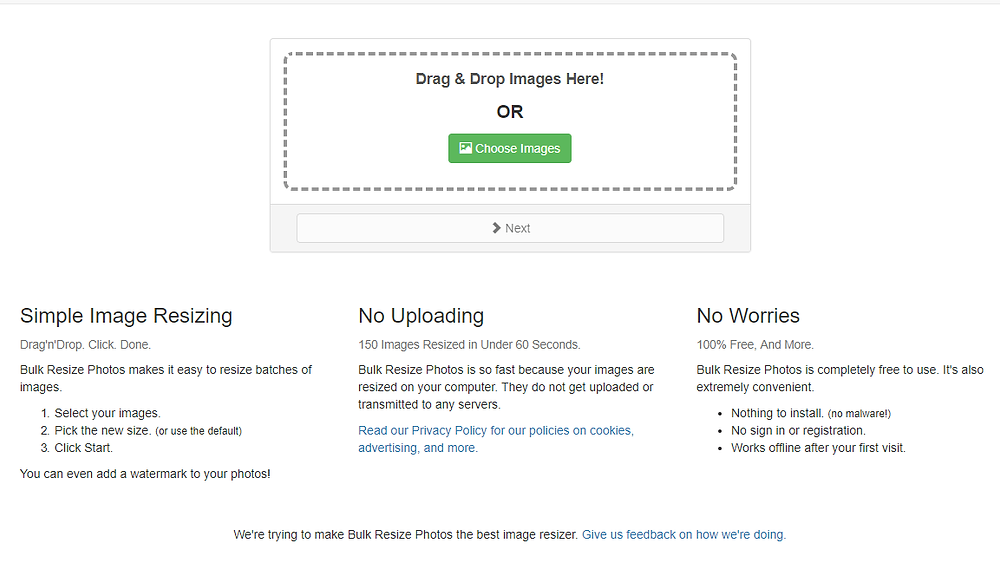 Wixホームページ制作 便利ツール | 多くの画像を一括リサイズ『Bulk Resize』