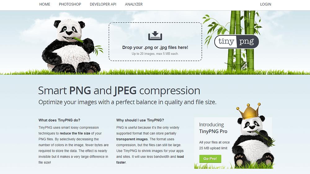 Wixホームページ制作 便利ツール | 画質を落とさず画像ファイルを軽量化『Tinypng』