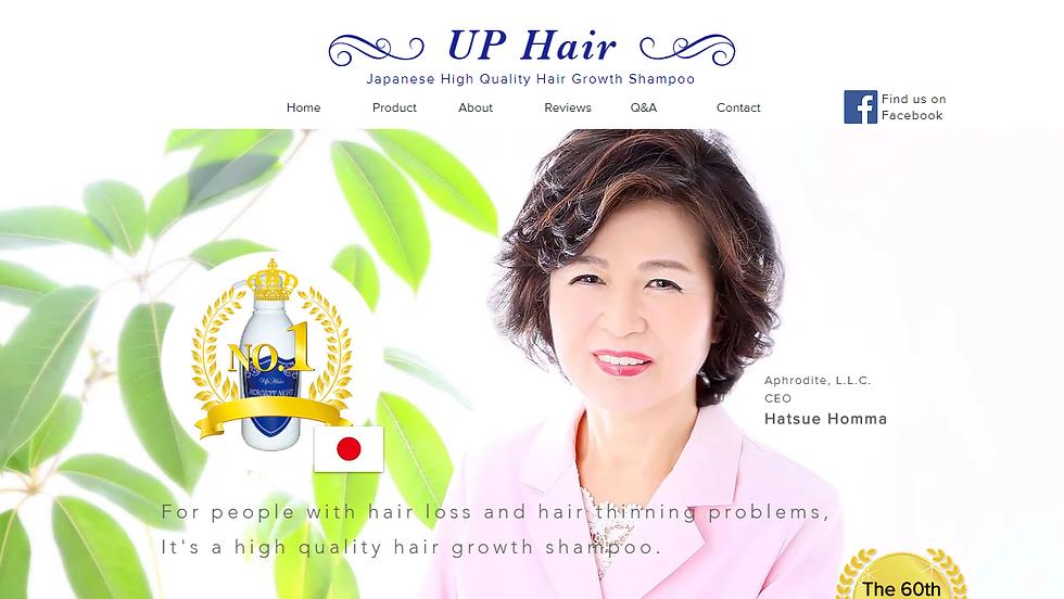 全国のアップヘアー発毛サロン『UP Hair』英語版