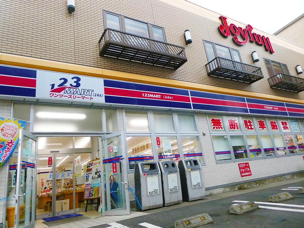 奄美大島名瀬中心街のコンビニ 123マート
