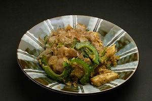 ニガウリの味噌炒め