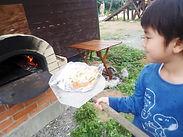 自家製ピザ窯でピザ作り | 奄美子供サマーキャンプ(ガサムンキャンプ) | 奄美大島 崎原ビーチ『海大将』