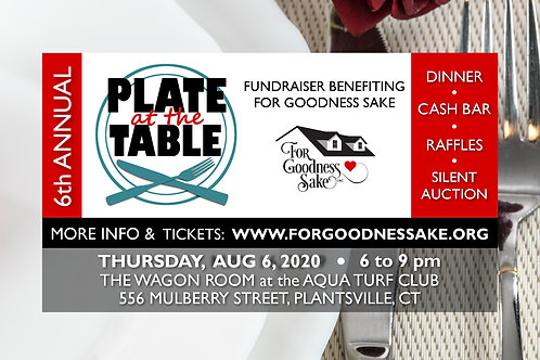 Tickets for 2020 Plate at the Table