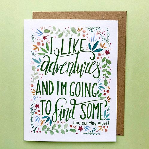 Louisa May Alcott Greeting Card