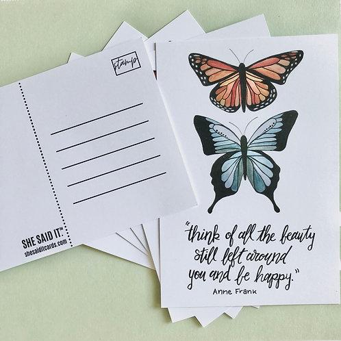 Anne Frank Postcard Set + Stamps