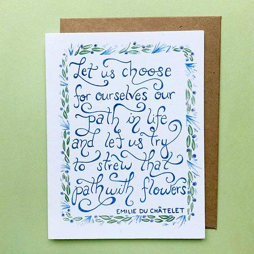 Emilie du Châtelet Greeting Card