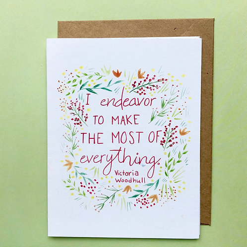 Victoria Woodhull Greeting Card
