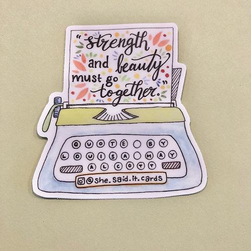 Louisa May Alcott Sticker