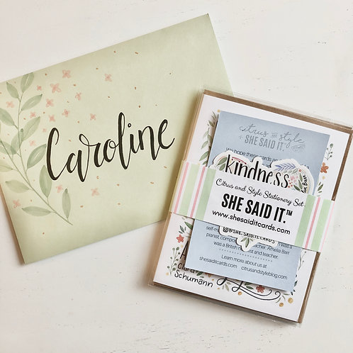Citrus and Style Stationery Set