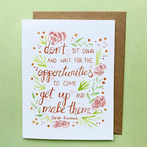 Sarah Breedlove Greeting Card