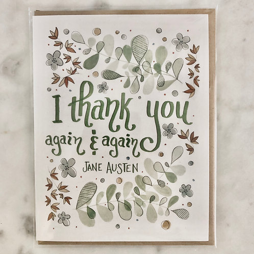 Jane Austen Thank You Greeting Card