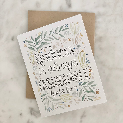 Amelia Barr Kindness Greeting Card