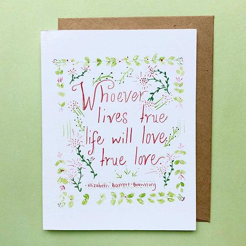 Elizabeth Barrett Browning Greeting Card