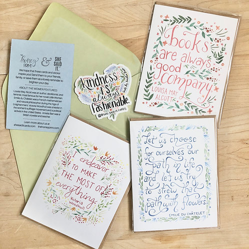 The Honey Print Stationery Set
