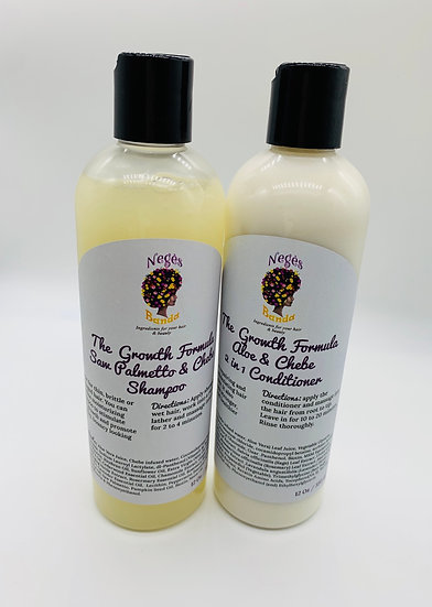 The growth formula chebe & Saw palmetto shampoo and conditioner 12 oz each