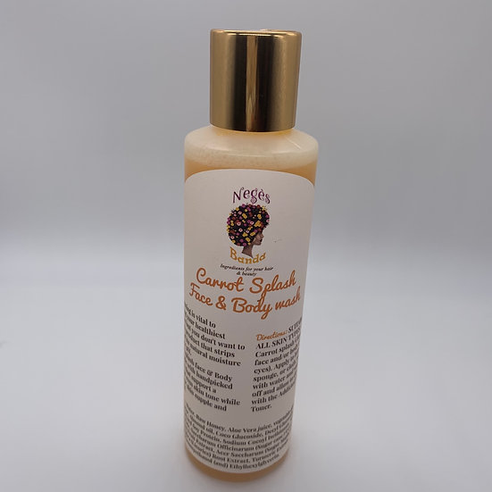 Carrot Splash (Even skin Tone) Face  Wash 6 oz