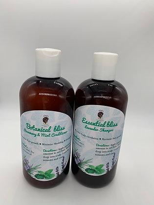 Scalp stimulator botanical shampoo and conditioner 12 oz each