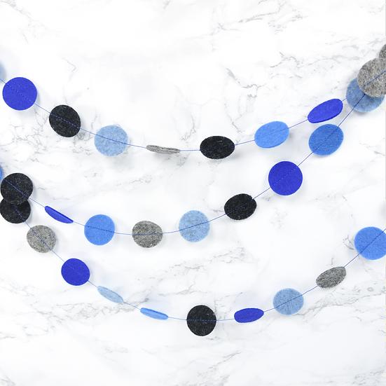 Slinger CIRCLES in blauw en grijs