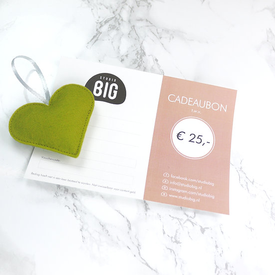 Gift card Euro 25