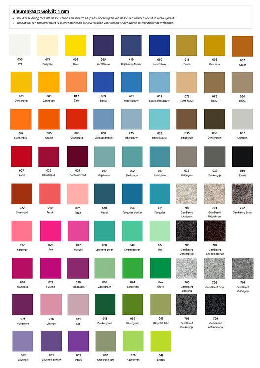 Kleurenkaart 1 mm