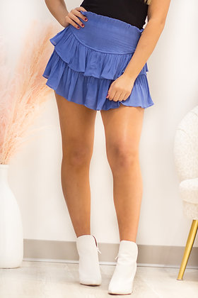 Meet Me In The Middle Skirt In Orchard Mist