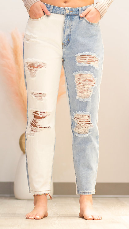 The Brittany Color Block Jeans