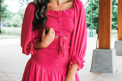 The Lindsey Dress In Pink