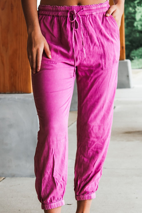 Cozy In Pink Joggers
