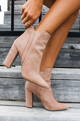 Charlie Booties In Taupe