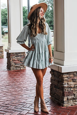 Here For The Dress In Sage