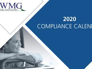 2020 Compliance Calendar